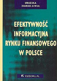 Efektywność informacyjna rynku  finansowego w Polsce