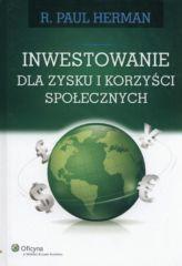 Inwestowanie dla zysku i korzyści społecznych