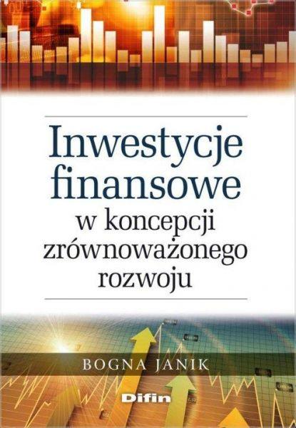 Inwestycje finansowe w koncepcji zrównoważonego rozwoju