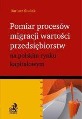 Pomiar procesów migracji wartości przedsiębiorstw